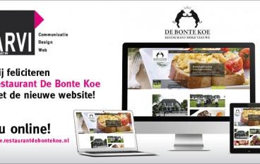 Nieuwe website Restaurant De Bonte Koe