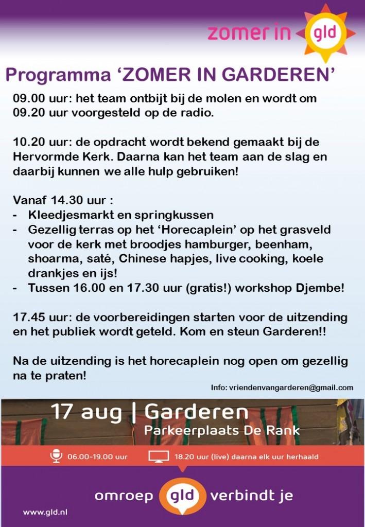 Planning dag Zomer in Gelderland