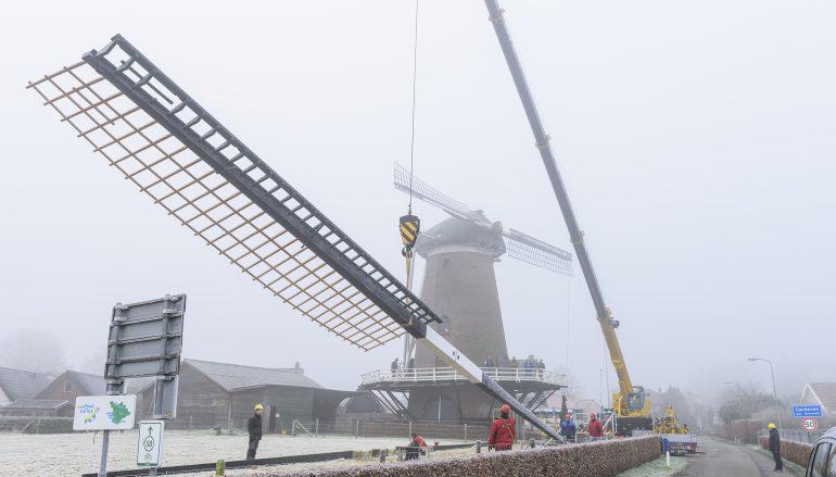 Nieuwe roede molen De Hoop succesvol geplaatst