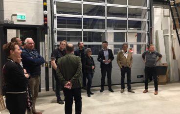GOV leden bezoeken nieuw pand Van de Kolk