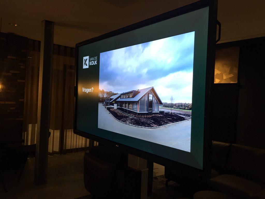 Presentatie van nieuw pand Bouwbedrijf Van de Kolk