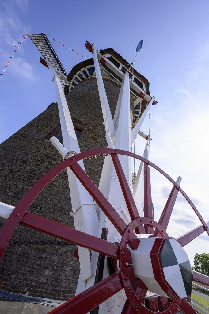 Korenmolen De Hoop, close-up