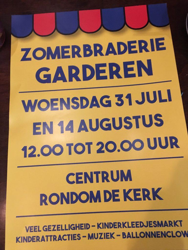 Aanmelden voor zomerbraderie Garderen kan nog!
