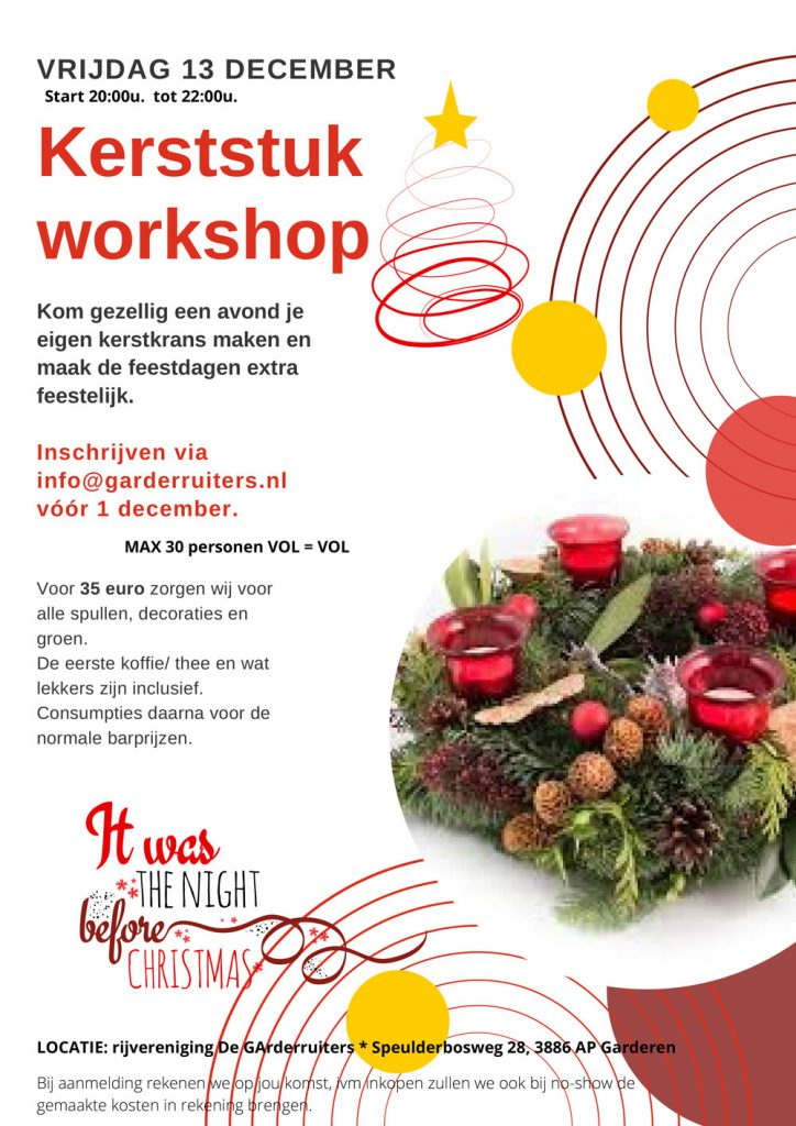 Kerstworkshop De Garderruiters