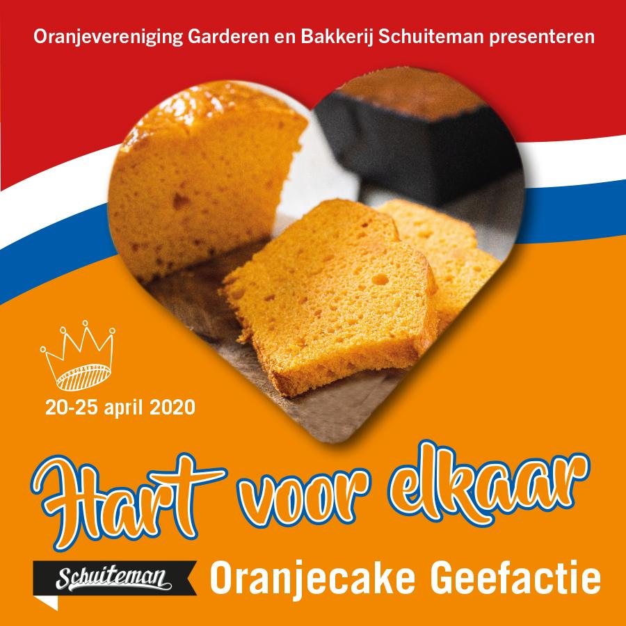 Cake weggeefactie Oranje verbindt