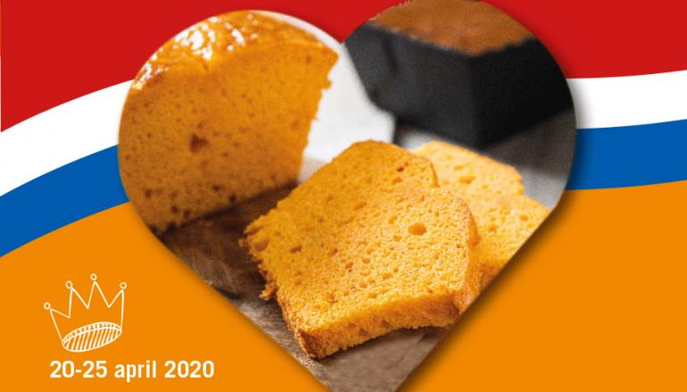 Oranjecake geefactie door Oranjevereniging en Bakkerij Schuiteman